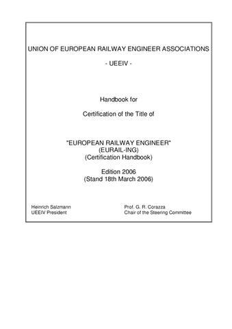 UEEIV Eurail-Ing Handbook by Martins Kreicis - issuu