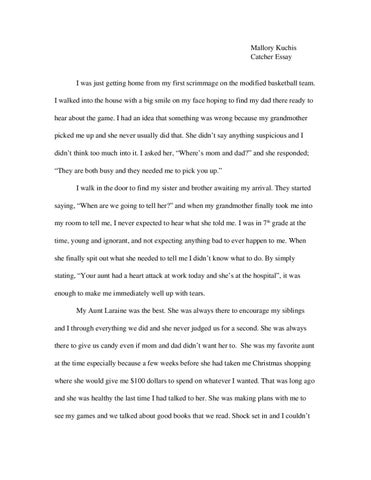 catcher in the rye essay by mallory kuchis issuu mallory kuchis catcher essay i was just getting home from my first scrimmage on the modified basketball team i walked into the house a big smile on my