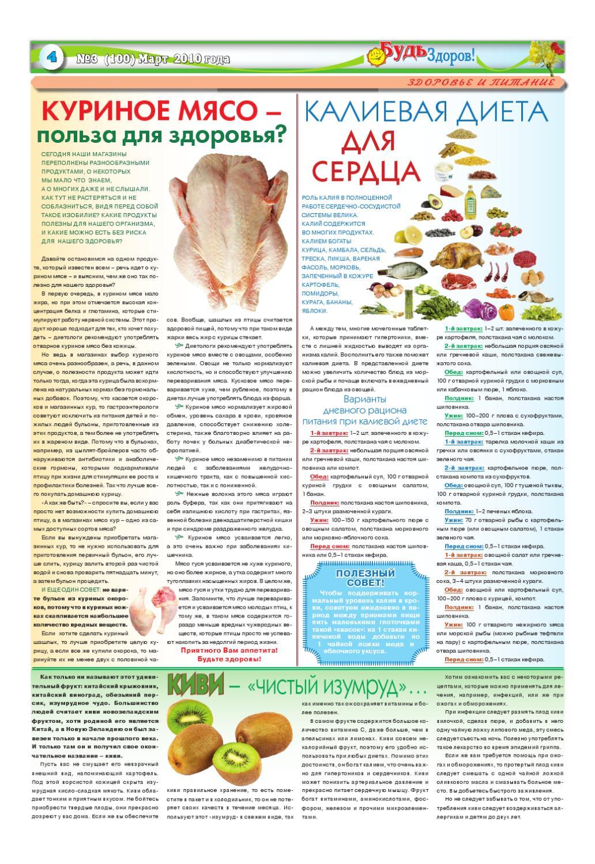 калиевая диета для сердца продукты
