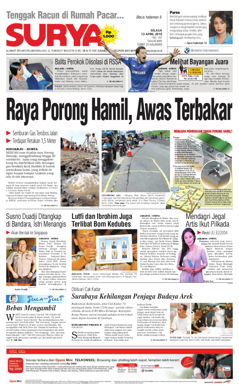 Surya Edisi Cetak 13 April 2010 By Harian Issuu Herbal Khalifah Specialis Lovbird Berlemak Atau Gajeh