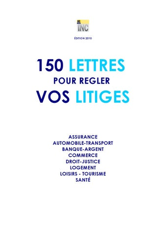 150 Lettres Types Pour Vous Aider A Regler Vos Litiges By Yaqoob