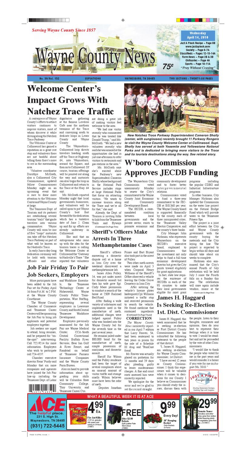 Wayne County News 04-14-10 by Chester County Independent - issuu