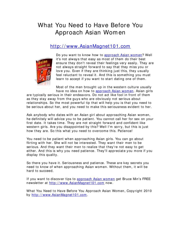 why do men like asian women