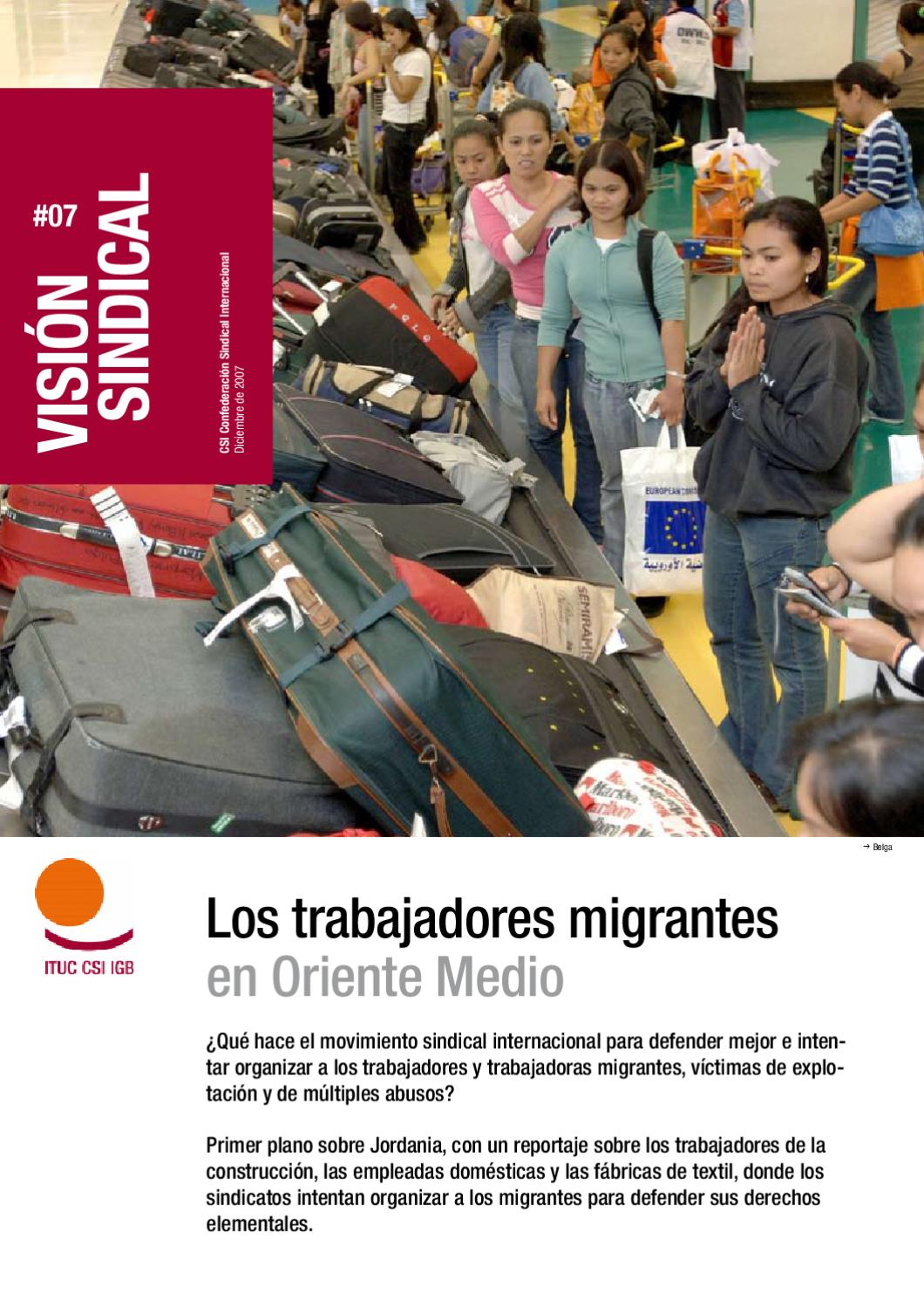Los trabajadores migrantes en Oriente Medio by International Trade ...
