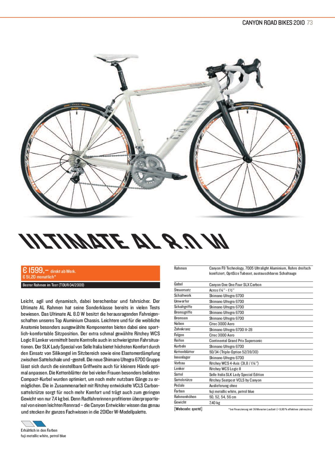 Canyon Roadbike Katalog 2010 by Canyon Bicycles GmbH - issuu