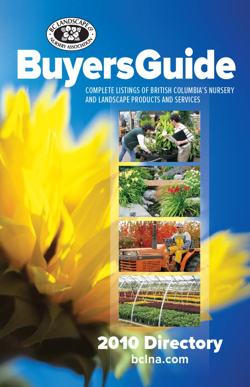 d4c0e36971d BCLNA Buyers Guide 2010 by BC Landscape & Nursery Association - issuu