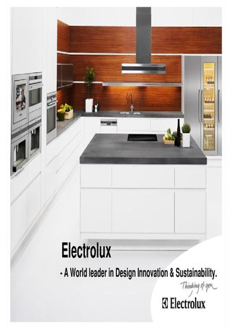 electrolux integrated appliances by aiyappa t issuu
