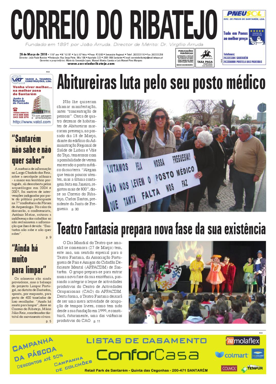 0880336799b Edição N. 6.197 de 26 de Março de 2010 by Correio do Ribatejo jornal - issuu