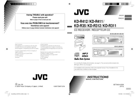 page_1_thumb_large jvc kdr311 312 411 412 manual by talk audio online issuu jvc kd-r311 wiring diagram at webbmarketing.co
