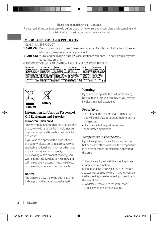Jvc Kdr511 Manual By Talk Audio Online Issuu