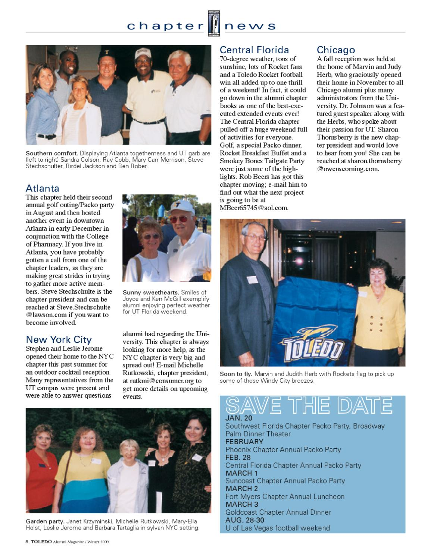 2003 Winter Edition by The University of Toledo Alumni