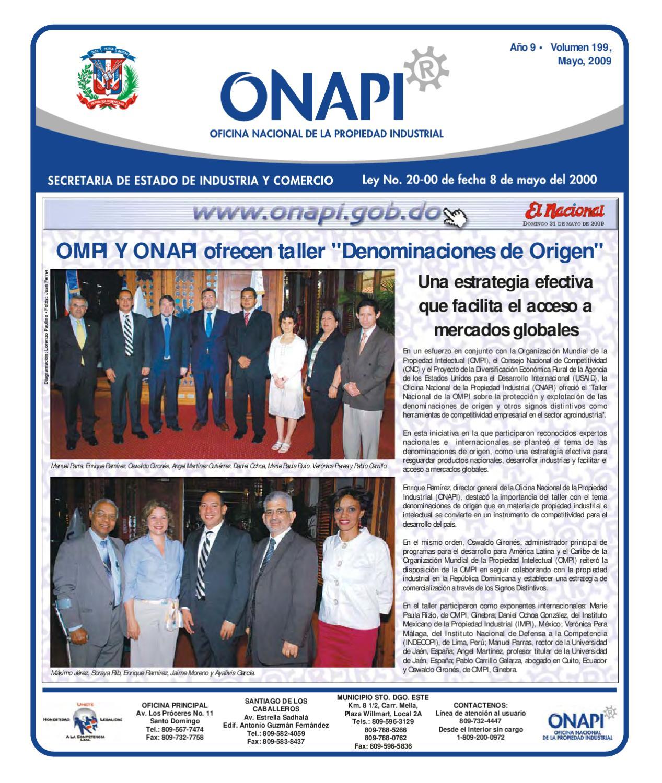 31 de mayo 2009 by oficina nacional de la propiedad for Oficina 9646