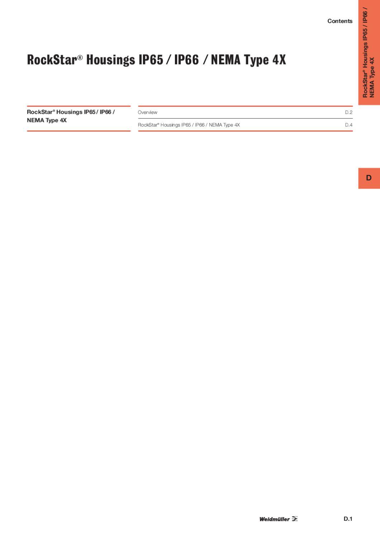 """WEIDMULLER 1210100000 HDC 16B ADLU 2/"""" X 4/"""" Cover Clamping Bulkhead Enclosure"""