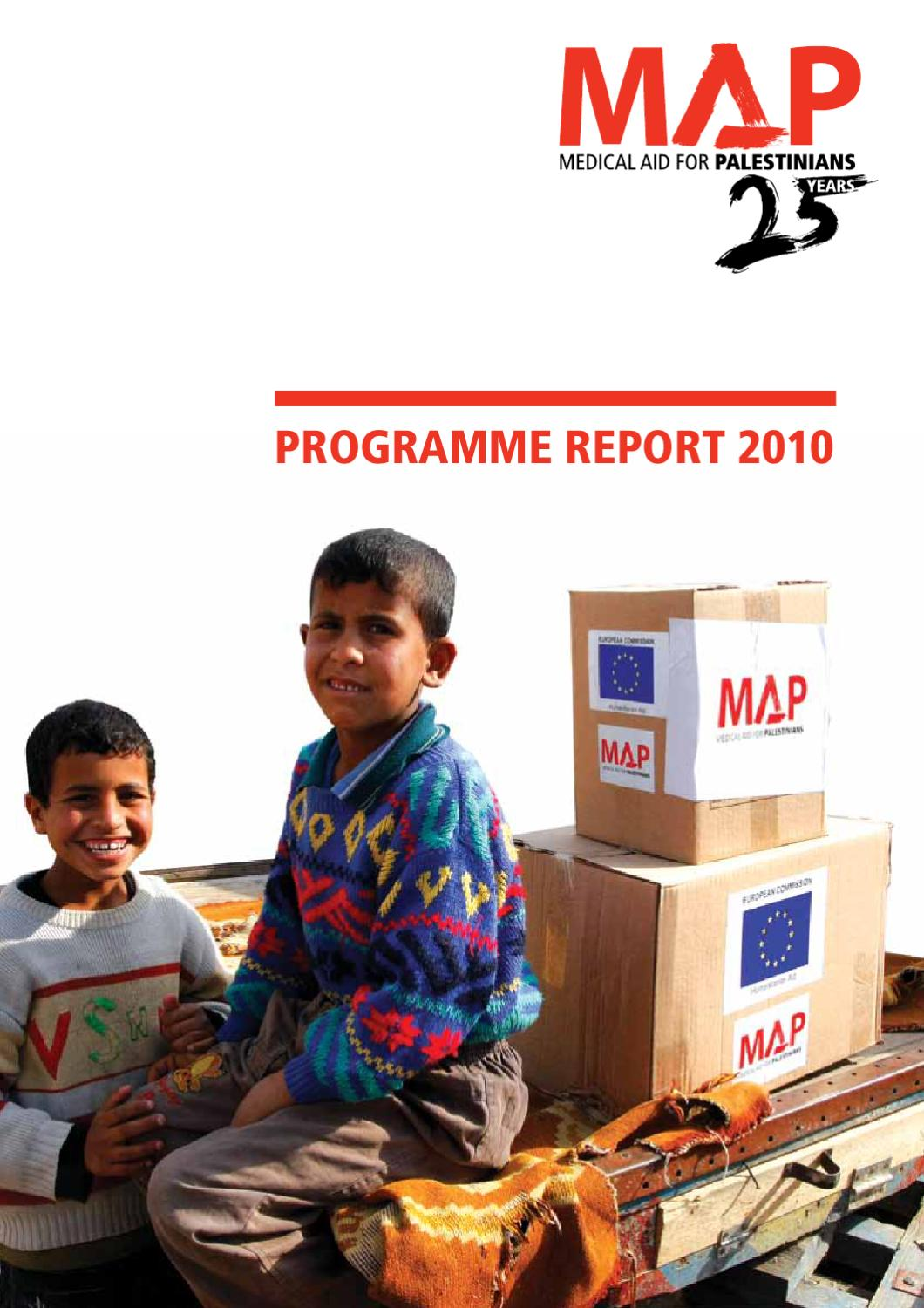 MAP 2010 Programme Report by Medical Aid for Palestinians
