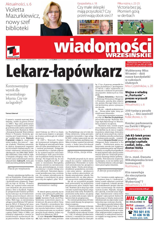 10834c2cff178 Wiadomosci Wrzesinskie - numer 1040 by Wydawnictwo KROPKA - issuu