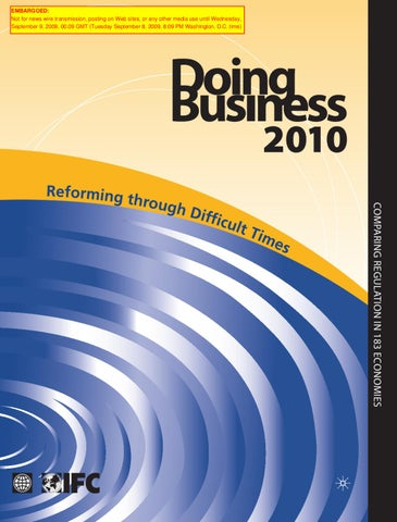 Doing Business 2010: A record in business regulation reform by World