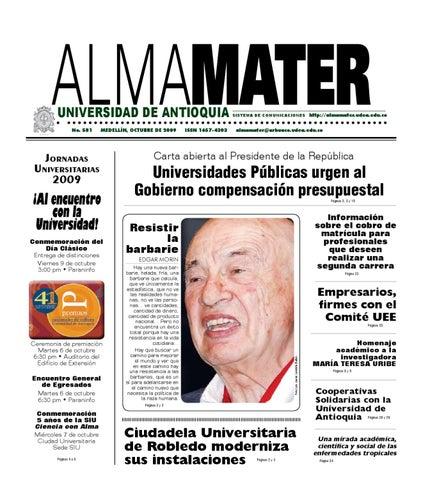 Periódico Alma Mater 581 Octubre 2009 By Universidad De