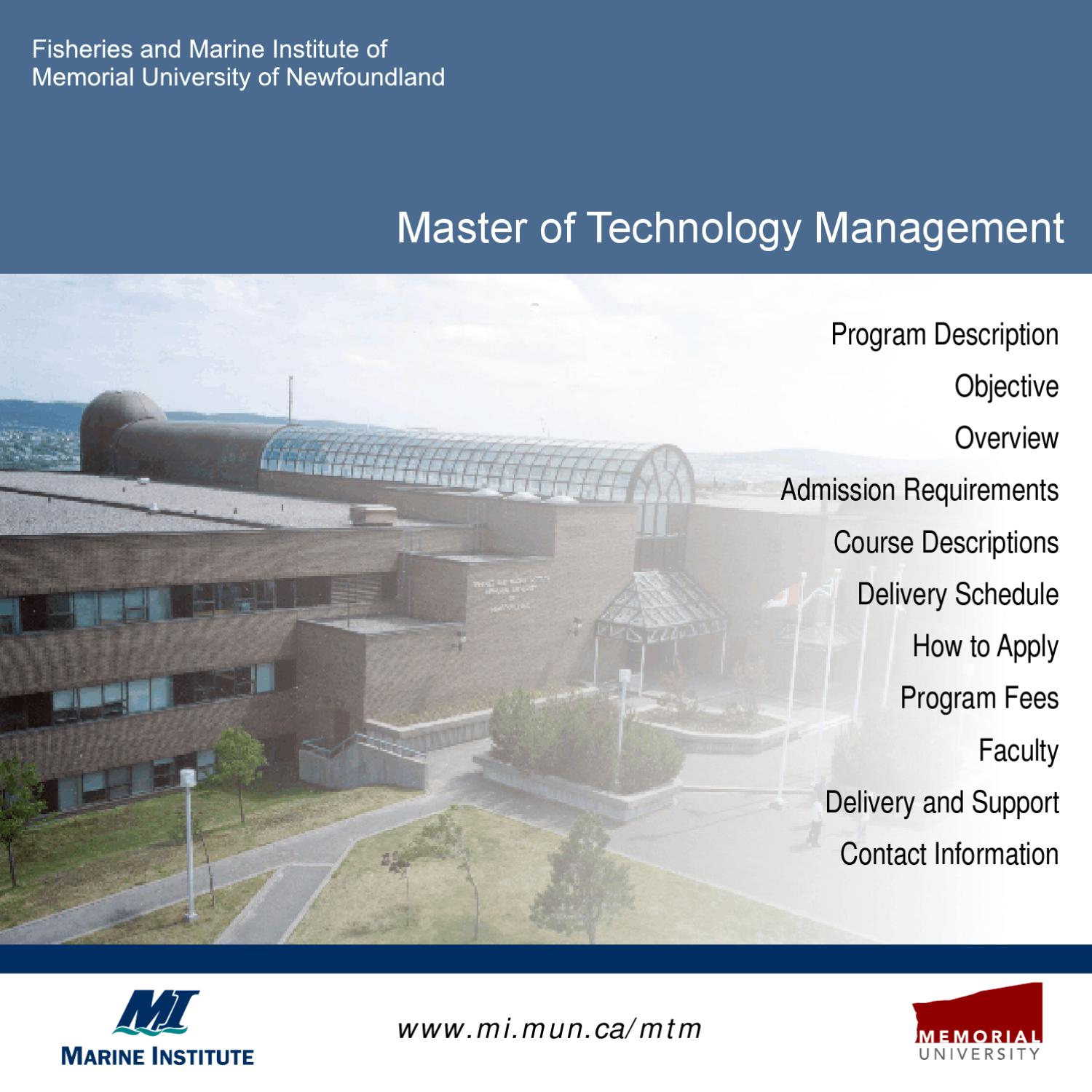 Technology Management Image: Masters Of Technology Management By Marine Institute