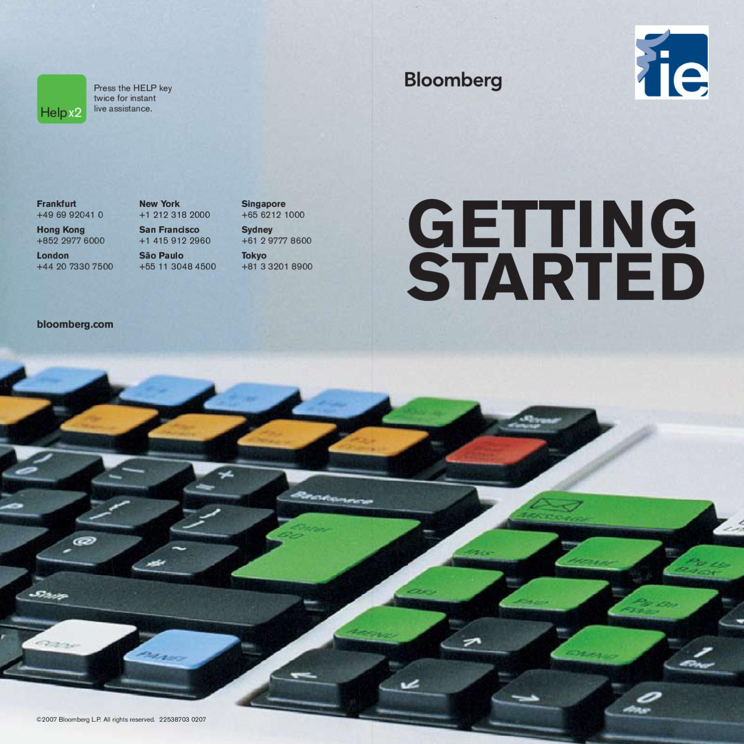 Bloomberg Tutorial by IE Library - issuu