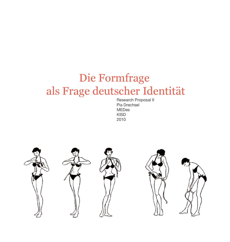 Die Formfrage als Frage deutscher Identität by Pia Drechsel - issuu