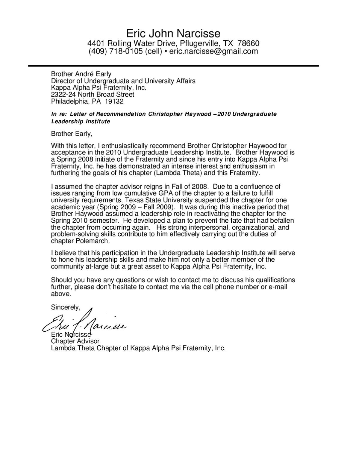 sample letter of recommendation for aka sorority letter of rec by chris haywood issuu 24629 | page 1