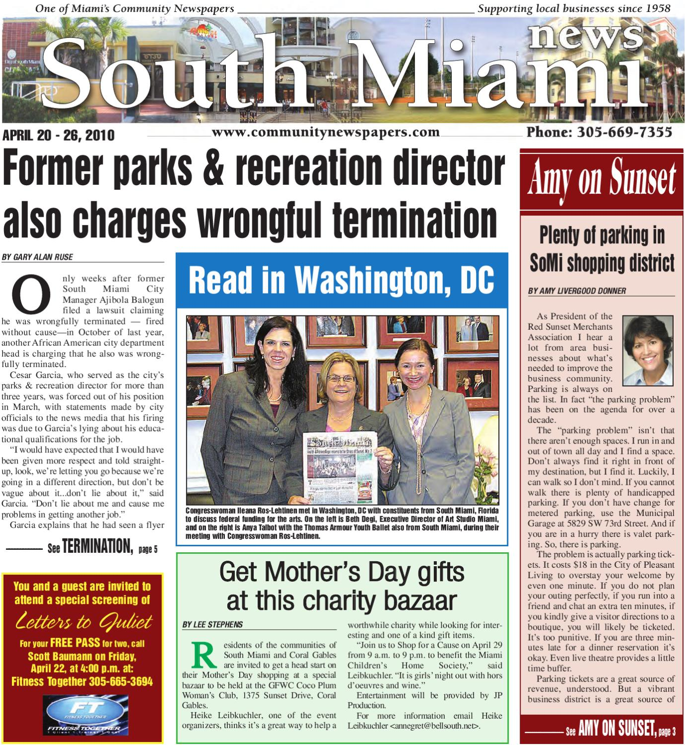 South Miami News - April 20, 2010 - Online printed Edition