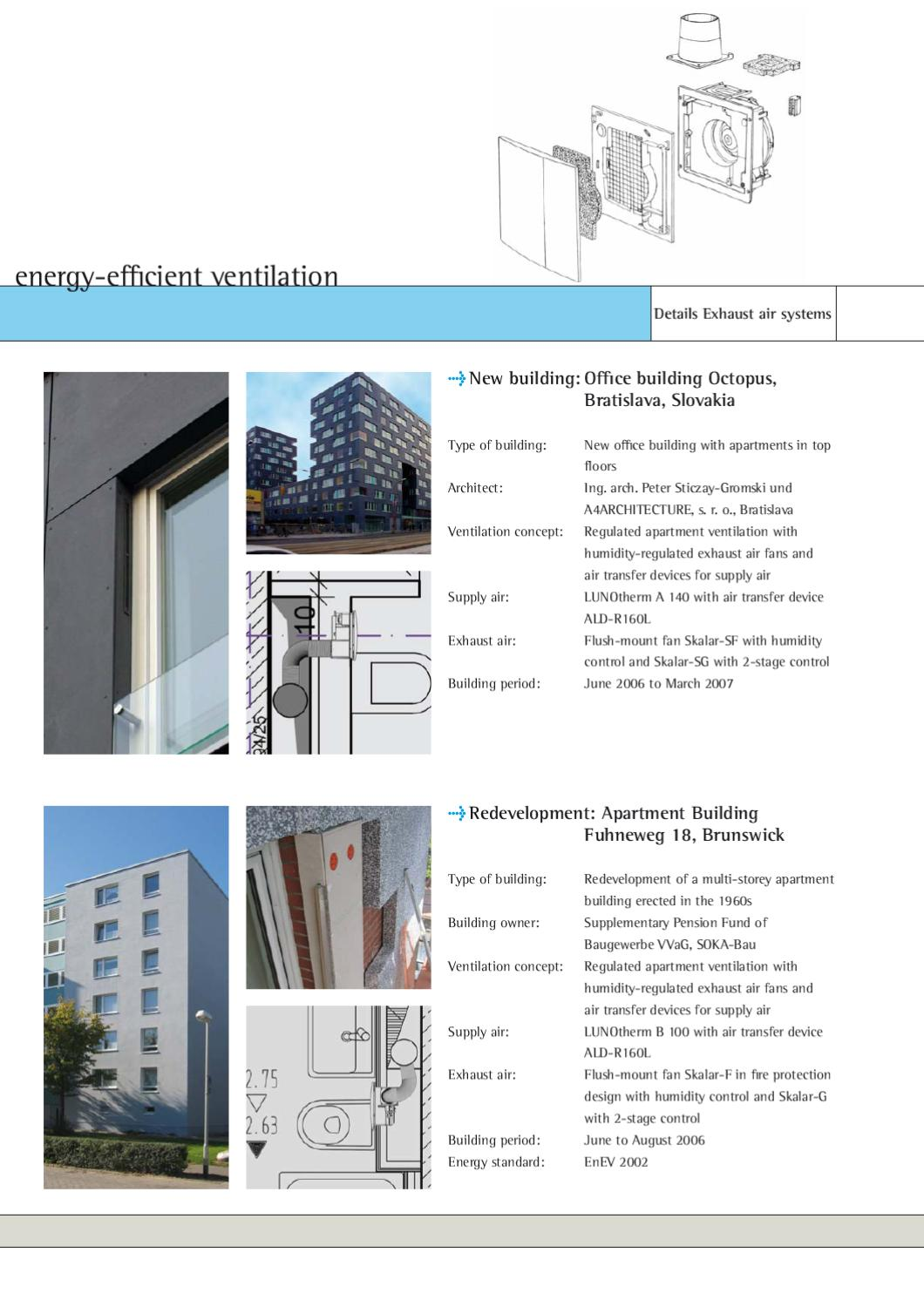LUNOS Catalogue for residential ventilation by LUNOS