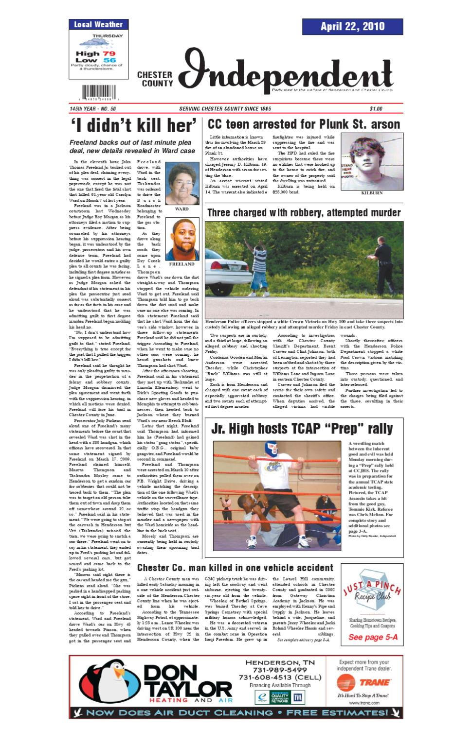 Tennessee chester county enville - Chester County Independent 04 22 10 By Chester County Independent Issuu