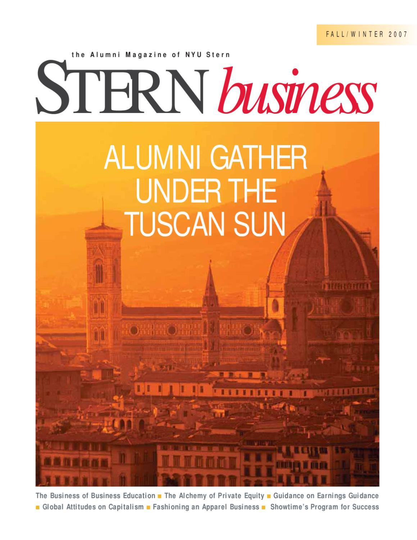 Stern Business Fall / Winter 2007 by NYU Stern - issuu