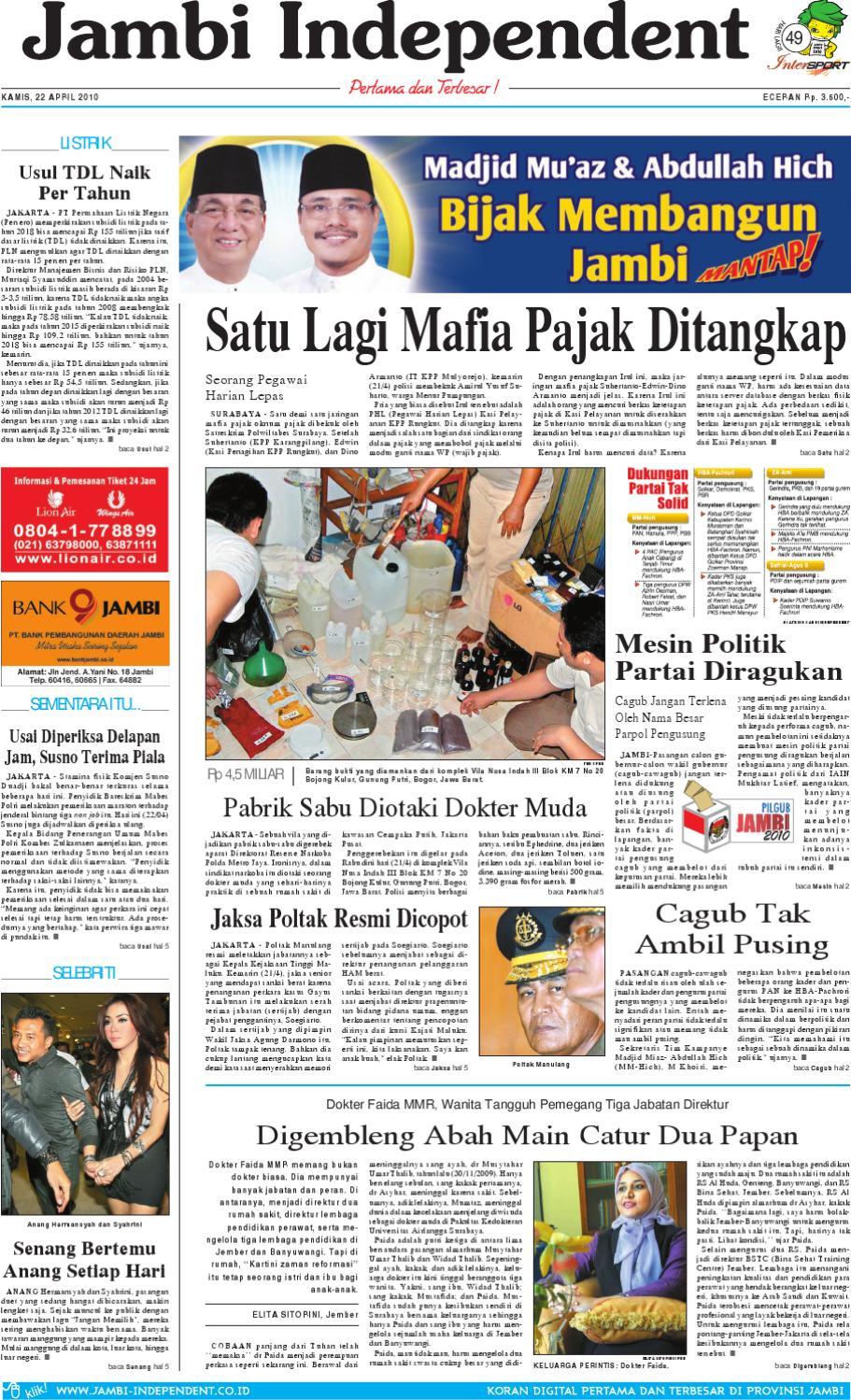 Jambi Independent 22 April 2010 By Issuu Produk Ukm Bumn Batik Lengan Panjang Parang Toko Ngremboko