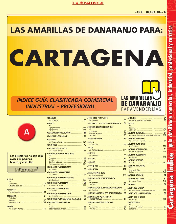 Directorio Telefonico Cartagena Bolivar 2010 P Ginas Amarillas  # Muebles Villarreal