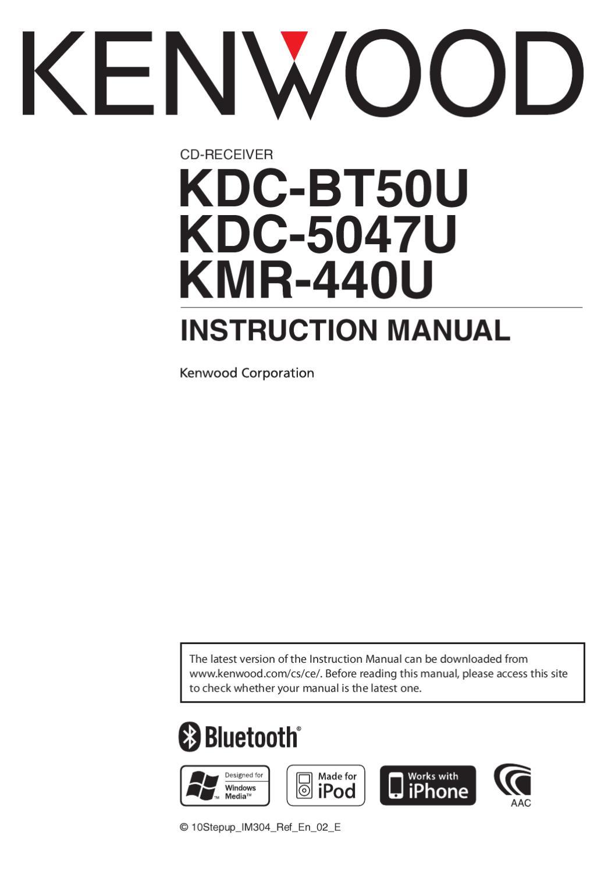 Kenwood KDC5047/BT50 Manual by Talk Audio Online - issuu