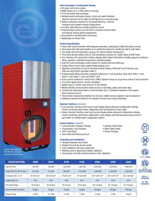 Atlas Sales Sheet By Ajax Boiler Inc