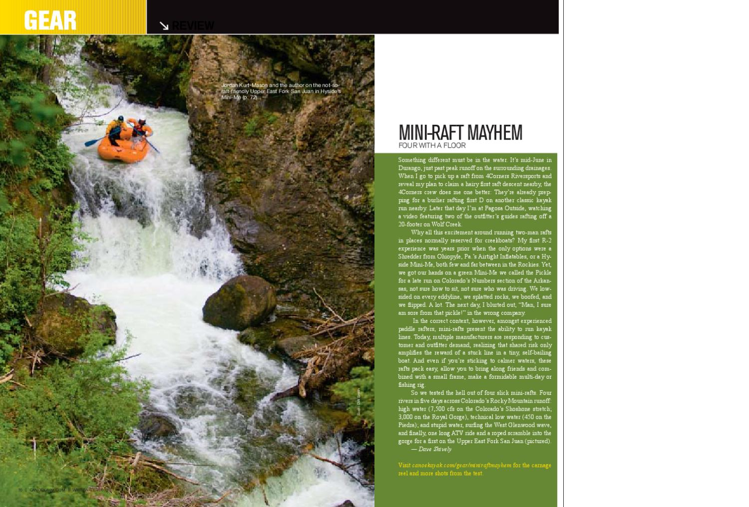 2010 Whitewater mini-raft review by Dave Shively - issuu
