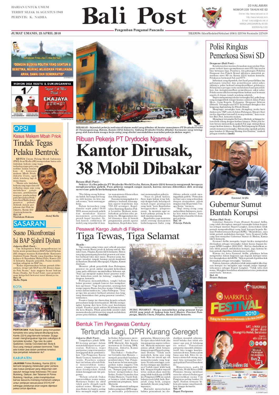 Edisi 23 April 2010 Balipostcom By E Paper Kmb Issuu Lg Kulkas Inverter Gn M572hphl 178cm Putih Bunga Khusus Jabodetabek