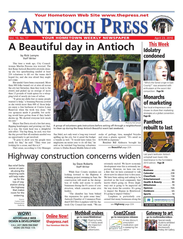 29a04fa89d2 Antioch Press 04.23.10 by Brentwood Press   Publishing - issuu