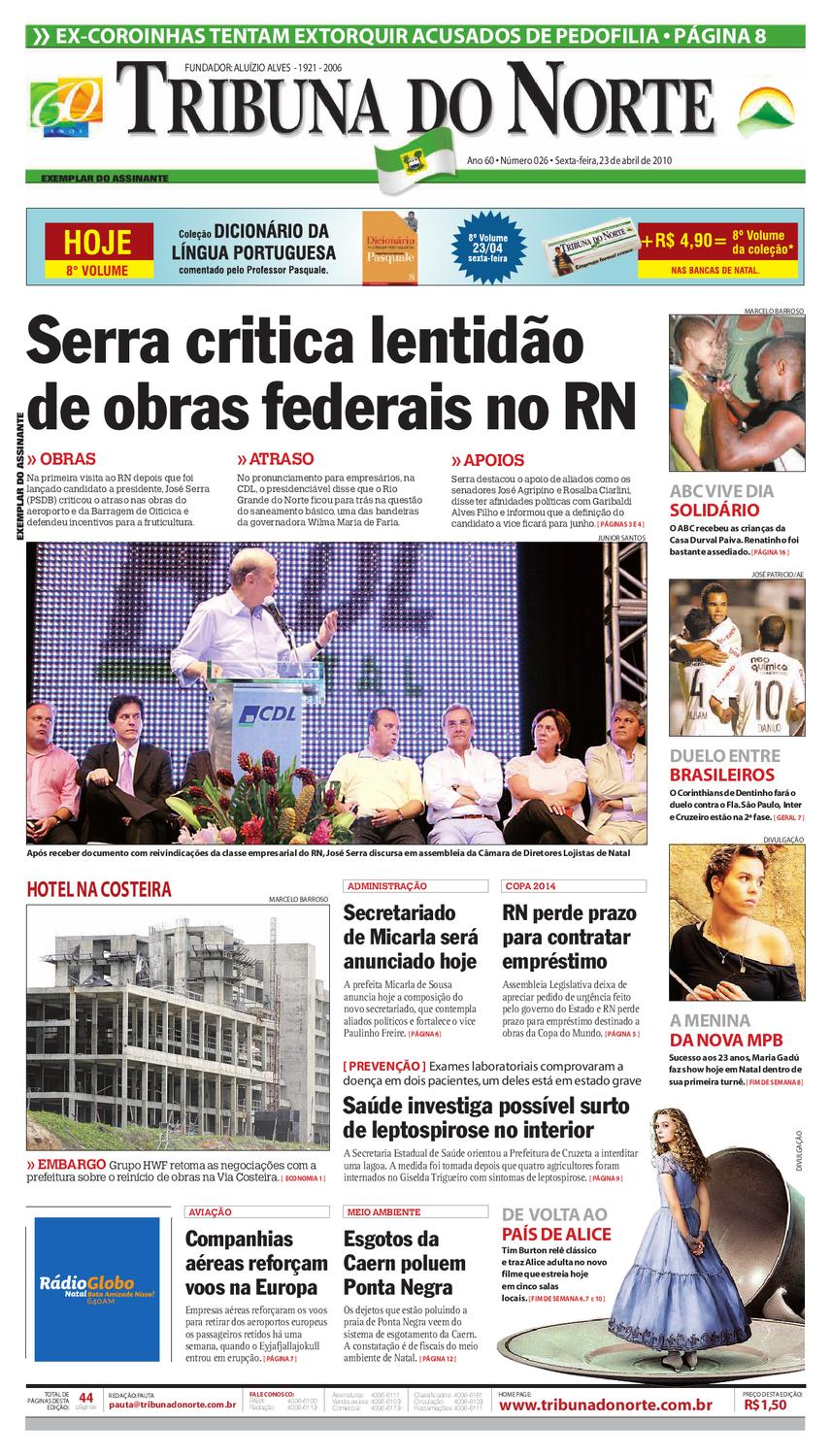 Tribuna do Norte - 23 04 2010 by Empresa Jornalística Tribuna do Norte Ltda  - issuu 7629bfaa45