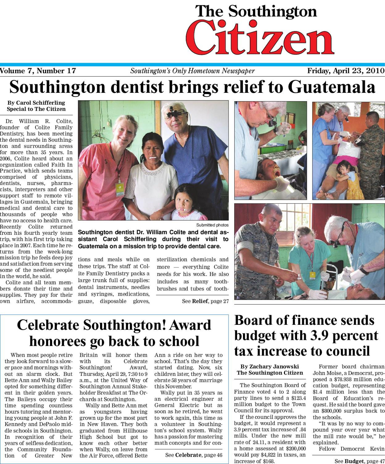 4 23 2010 Southington Citizen Newspaper By Dan Champagne Issuu