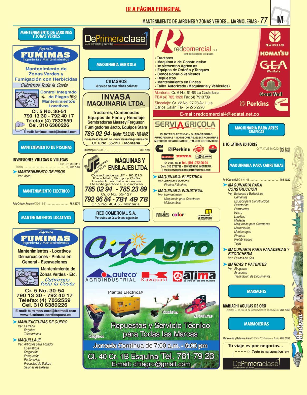 Directorio Telefonico Monteria Cordoba 2010 P Ginas Blancas By  # Muebles Jireh Bucaramanga