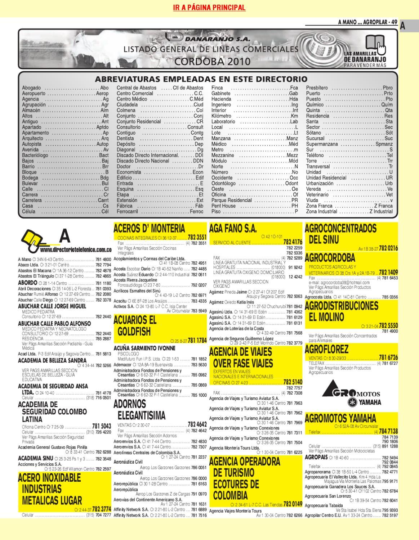 Directorio Telefonico Monteria Cordoba 2010 P Ginas Blancas By  # Muebles Harvi Barranquilla Direccion