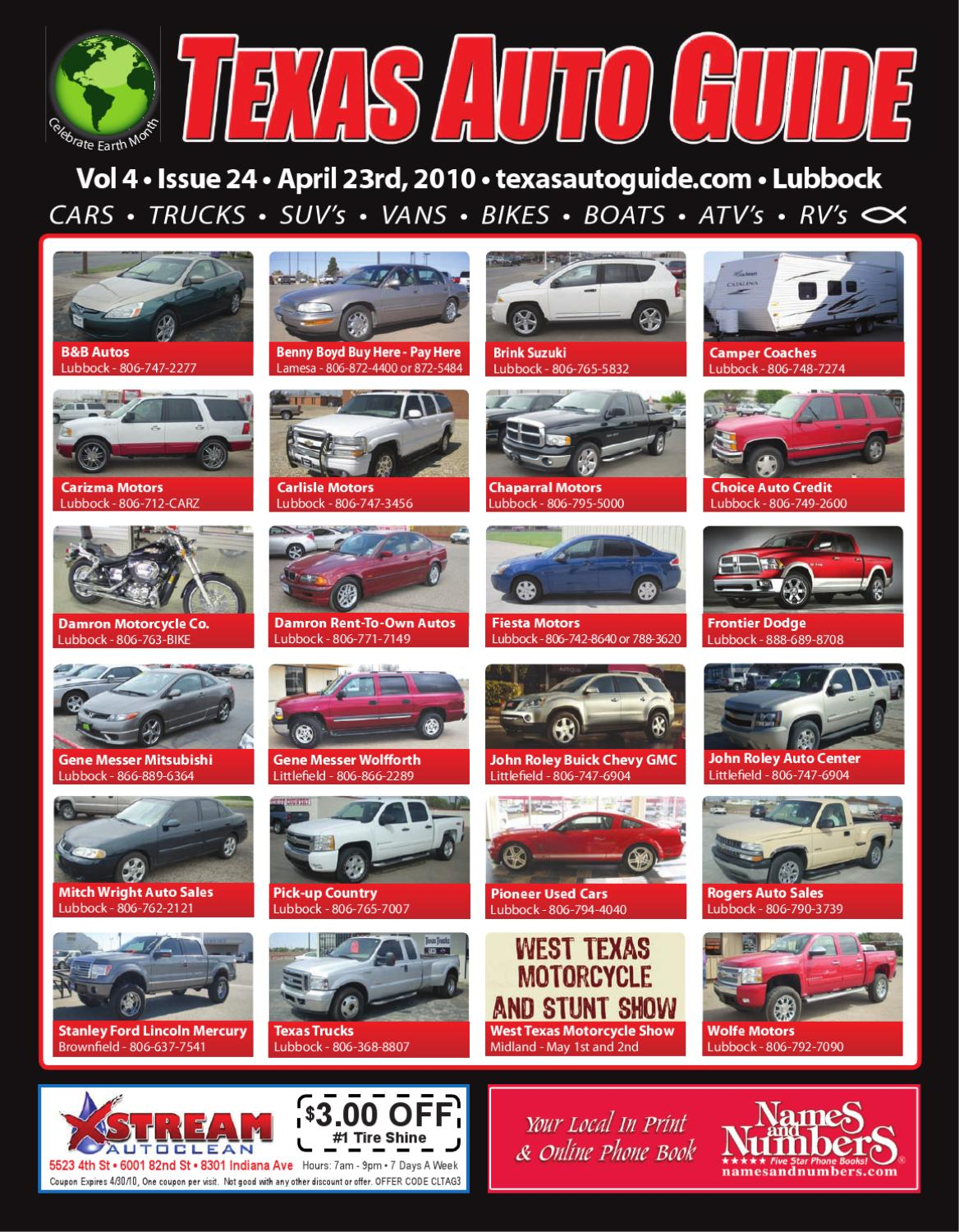 Fiesta Motors Lubbock >> April 23rd 2010 Issue Of Texas Auto Guide Lubbock By Texas