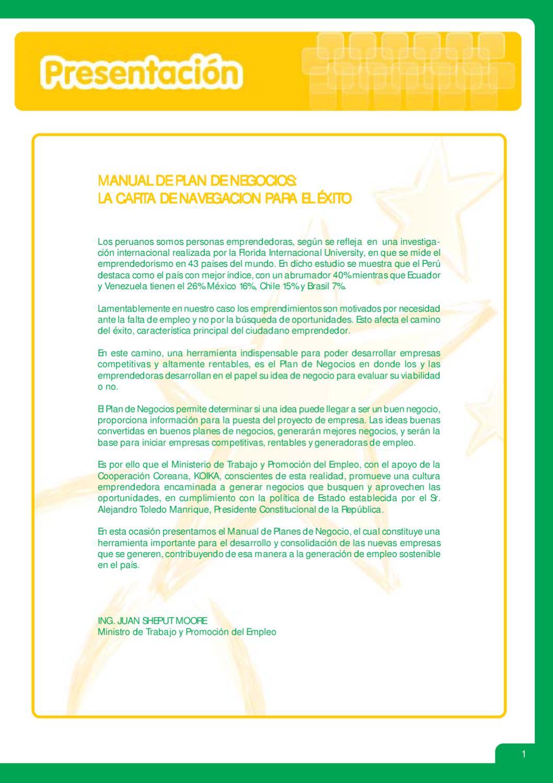 Manual Plan de Negocios La Carta de Navegación para el exito by ...