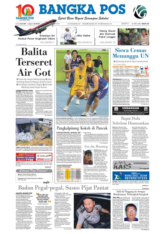 Harian Pagi Bangka Pos Edisi 24 April 2010 By Issuu Produk Ukm Bumn Brasso Metal Polish 200 Ml