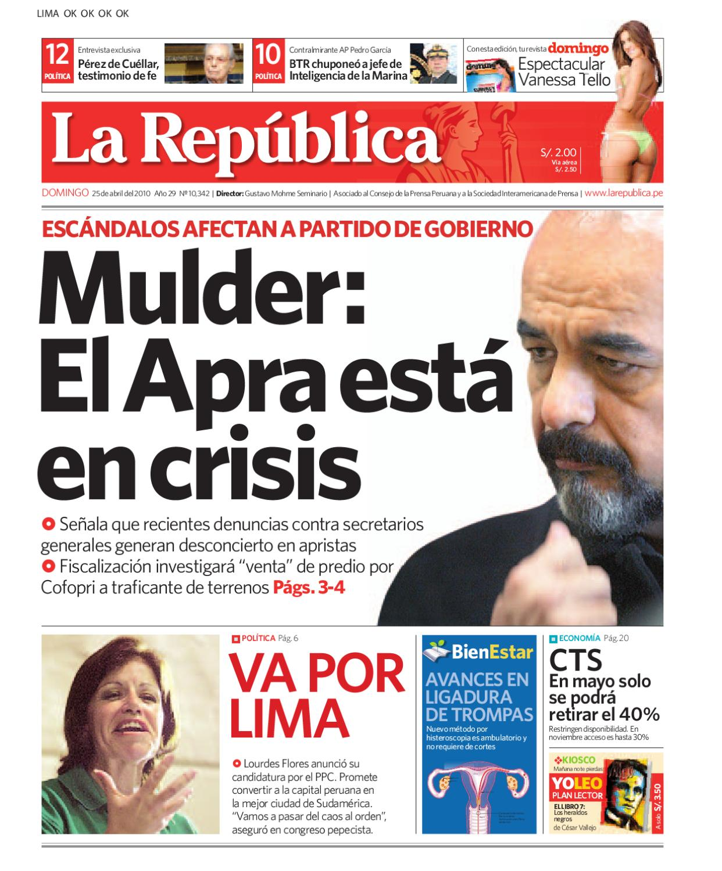 Edición Lima La República 25042010 by Grupo La República ...