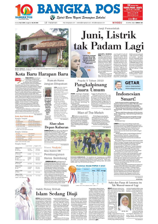 Harian Pagi Bangka Pos Edisi 25 April 2010 By Issuu Kartu Kemat Listrik