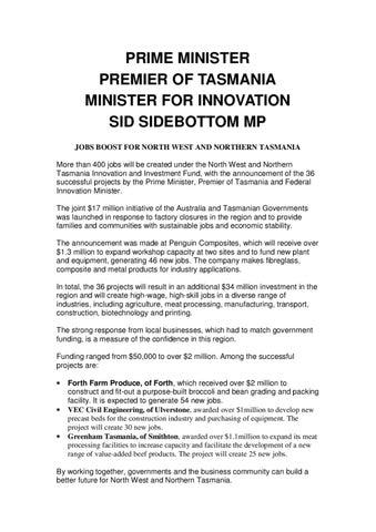 http://www sidsidebottom com/pdf/media/April_2010/Jobs_Boost_230410