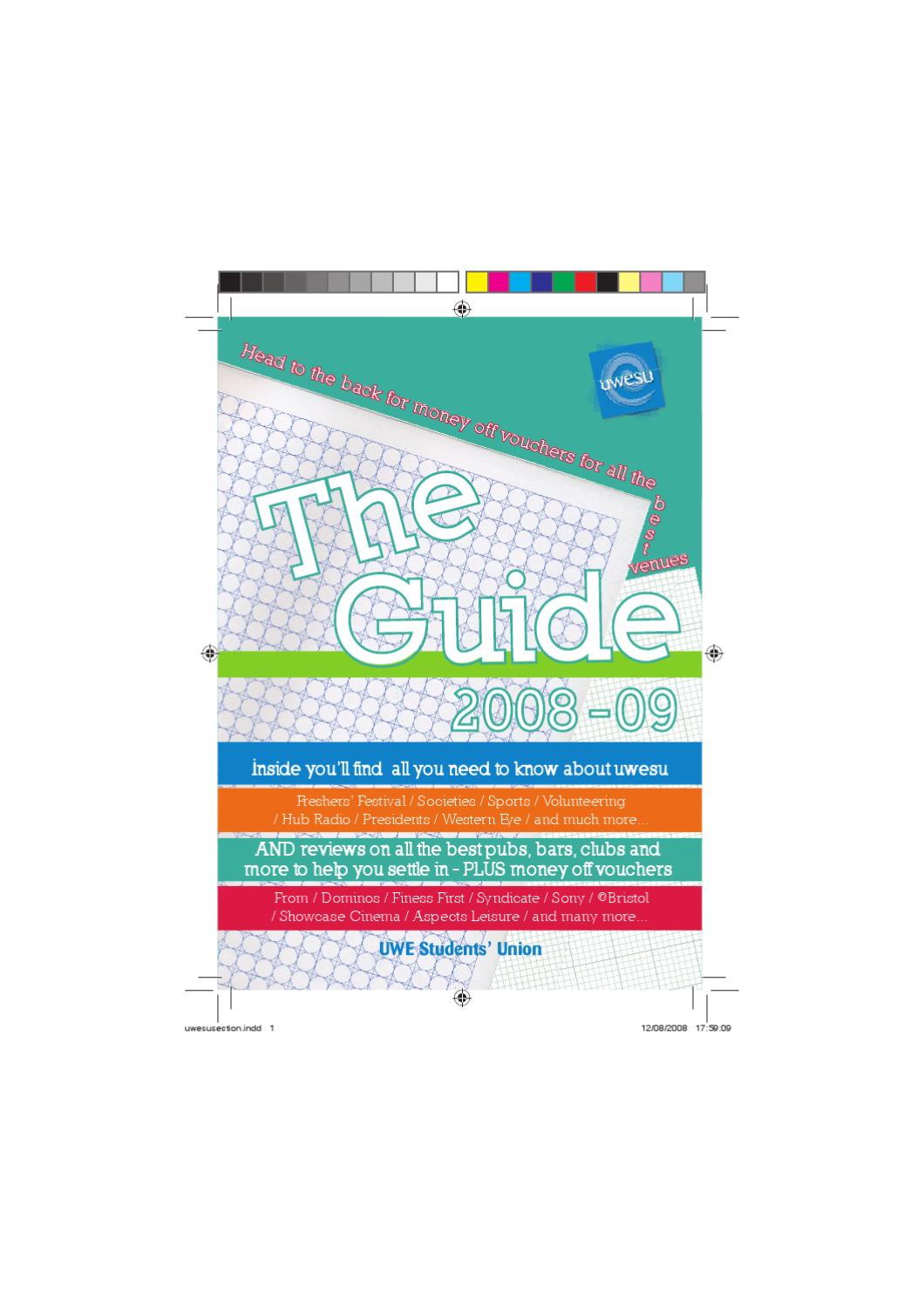 The UWESU Guide 2008 by The Students\' Union at UWE - issuu