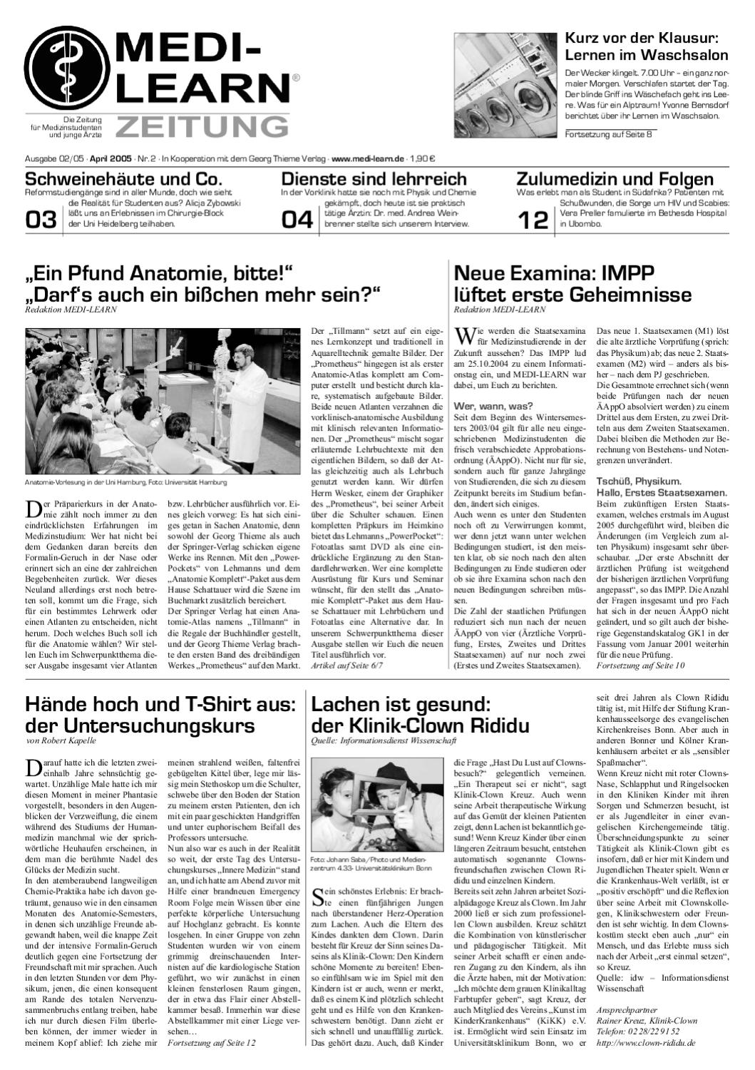 MEDI-LEARN Zeitung 01/2005 by MEDI-LEARN - issuu