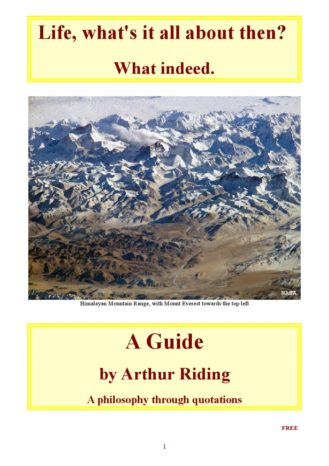Life Whats It All About Then What Indeed A Guide By Arthur 1983 Caprice Fuse Box Riding Issuu
