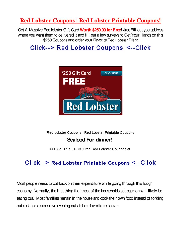 red lobster printable coupons by lisa dm - issuu